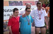 Entrega de medallas 50m libres