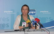 Ana Guarinos en rueda de prensa.