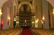 Interior de la iglesia-paraninfo de San Pedro Mártir, en Toledo.