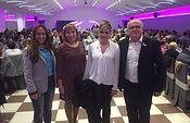 Elena de la Cruz acompaña a los representantes de la Junta en Albacete en la comida de hermandad de AMAC