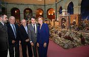 Cospedal visita el Belen de la Comunidad de Madrid. Foto: JCCM.