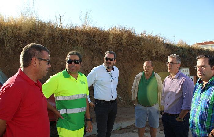 Visita del delegado de la Junta en Guadalajara, Eusebio Robles, a los municipios afectados por la tormenta.