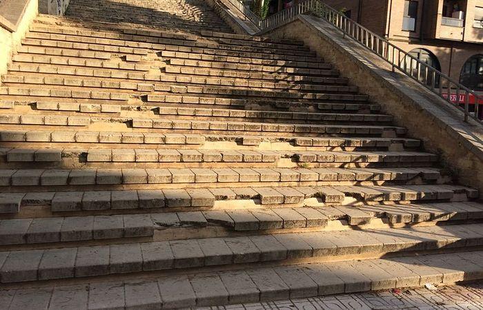 Escaleras barrio de La Paz, Cuenca.