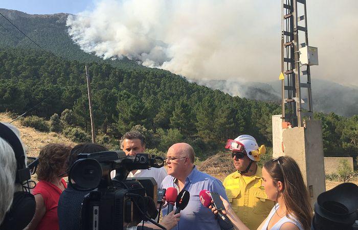 Foto incendio Las Parrillas-Yeste