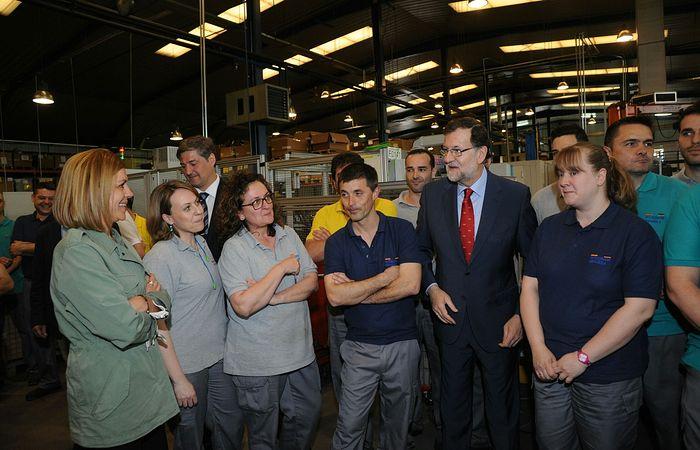 Mariano Rajoy ha visitado en Guadalajara la empresa Witzenmann Española