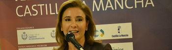 Marta García en La Noche de las Telecomunicaciones en Guadalajara. Foto: JCCM.