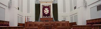 Salón de Plenos de las Cortes de Castilla-La Mancha.