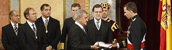 Rey Felipe VI - Jura Constitución - 19-06-14. Foto: La Moncloa.