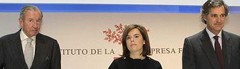 Soraya Sáenz de Santamaría clausura en Barcelona del XV Congreso Nacional de la Empresa Familiar (foto de EFE)