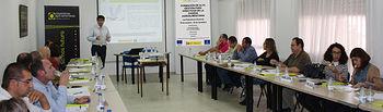 """Programa de formación sobre """"Gestión para directivos de la cadena Agroalimentaria"""" en Las Pedroñeras. Foto: Cooperativas Agro-alimentarias."""