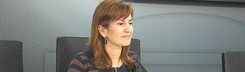 La concejal de Cultura, Rosario Gualda, durante la presentación de la programación de la Casa de la Cultura José Saramago.