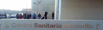 Fotografía de la entrada al Centro de Salud de Membrilla