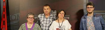 Ani Sánchez, Santiago Aguilar, Victoria Delicado y Pedro Ortuño.