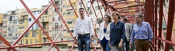 María Dolores de Cospedal con Xavi Garcia Albiol y Enric Millo en Girona