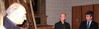 El director general de la Policía restituye al Museo Diocesano de Jaca un óleo del s. XV robado de una iglesia zaragozana en 1975. Foto: Ministerio del Interior