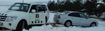 El Gobierno regional despliega a sus agentes medioambientales para colaborar con el 112 en el temporal de nieve.