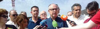El viceconsejero de Medio Ambiente, Agapito Portillo, ha atendido este miércoles a los medios en Yeste (Albacete)