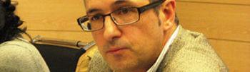 Hugo Morán en un momento de la reunión