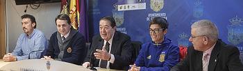 """Presentación del II torneo internacional de fútbol sala femenino \""""4 Naciones\""""y el \""""Ciudad de Guadalajara\"""", Antonio Escribano, Alicia Morell, seleccionadora nacional"""