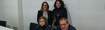 Carmen Picazo se ha reunido con Lorenzo López Giménez, Presidente de la Federación Provincial de Comercio de Albacete.