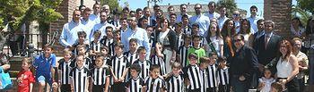 Celebración del cincuenta aniversario de la Agrupación Deportiva Torpedo 66 de Cebolla (Toledo)