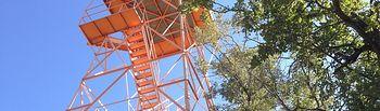 Torreta de vigilancia forestal de Cabrejas, fuera de servicio.