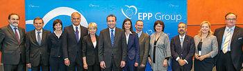 Estéban González Pons con el Presidente del Grupo Popular Europeo Manfred Weber