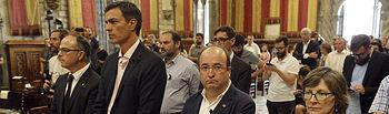 Pedro Sánchez, Secretario General participa en los actos de repulsa contra los atentados terroristas en Barcelona