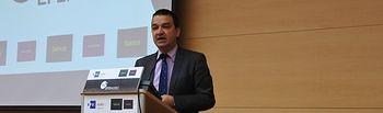 El consejero de Agricultura, Medio Ambiente y Desarrollo Rural, Francisco Martínez Arroyo participa en uno de los foros organizados por la agencia EFE-Agro