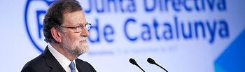 Mariano Rajoy interviene en la Junta Directiva del PP de Cataluña