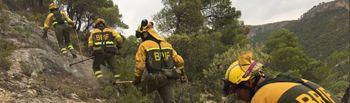 Foto incendio de Yeste - BRIF