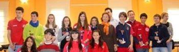 Sagrario Gutiérrez con los ganadores
