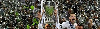 El Real Madrid celebrando su victoria en la Champions League.