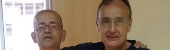 Manuel García, presidente del Club de Atletismo Albacete-Diputación, junto a José Mª Aguilar, candidato nº 3 de PARTICIPA ALBACETE)