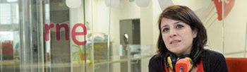 Adriana Lastra durante la entrevista en RNE