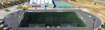 Vista aérea de la pista de atletismo del CDM Valdeluz.