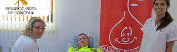 La Guardia Civil de Albacete colabora en una campaña solidaria de donación de sangre