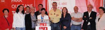 En el acto también se presentaron los candidatos de la comarca.