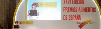 """Isabel García Tejerina: """"La apuesta por la internacionalización, la calidad y la innovación constituye la esencia del éxito de nuestros alimentos y de nuestra cocina"""". Foto: Ministerio de Agricultura, Alimentación y Medio Ambiente"""