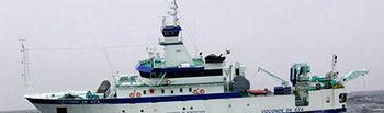 """El buque oceanográfico Vizconde de Eza inicia la campaña de investigación """"Platuxa 2016"""" en el Gran Banco de Terranova. Foto: Ministerio de Agricultura, Alimentación y Medio Ambiente"""