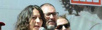 Katiana Vicens en una concentración en Madrid