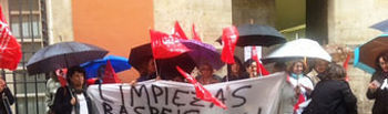 Movilizaciones de trabajadoras de Limpiezas Raspeig. Foto de Archivo