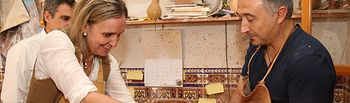 Casero en taller de cerámica de Jesús Parra 1. Foto: JCCM.