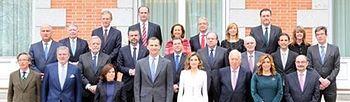 Reunión de la Comisión Internacional para la conmemoriación del IV Centenario de la muerte de Cervantes. (Foto Casa Real)