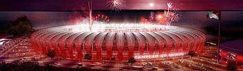 Recreación del estadio Beira-Río (Porto Alegre, Brasil)