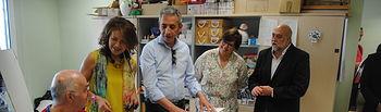 El alcalde y la Consejera de Bienestar Social visitaron el Centro Ocupacional de AFAD en Valdepeñas