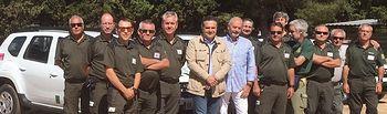 Foto del acto de entrega de los nuevos vehículos a los agentes medioambientales de Albacete