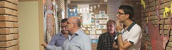 Visita del delegado de la JCCM en Albacete, Pedro Antonio Ruiz Santos, a un centro escolar en San Pedro.