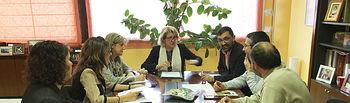 Reunión del jurado de la V edición del concurso de Microrrelatos.