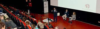 Un momento de la lección magistral de Fernando Viejo-Fluiters en el EJE. Fotografía: Álvaro Díaz Villamil/ Ayuntamiento de Azuqueca de Henares